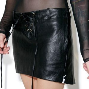 One Teaspoon Pockets Vegan Leather Skirt 442